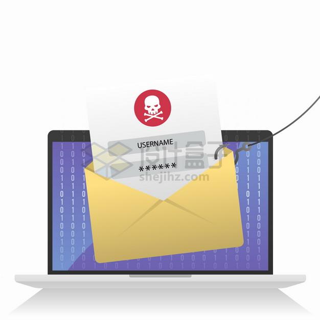 黑客钓鱼盗取用户账户密码信息网络个人信息安全问题png图片素材 IT科技-第1张