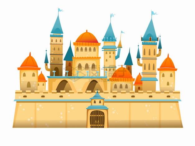 黄沙组成的卡通城堡png图片素材 建筑装修-第1张