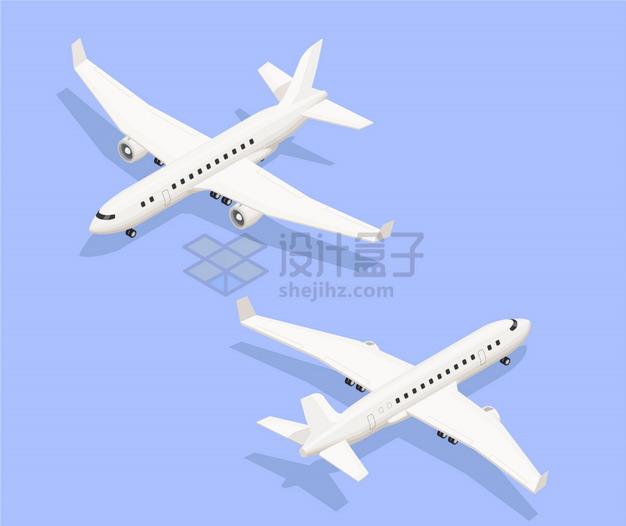 白色的中型客机飞机8764364png图片素材 交通运输-第1张