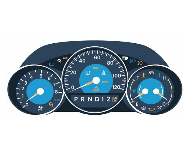 一款蓝色的汽车仪表盘722880png图片免抠素材 交通运输-第1张