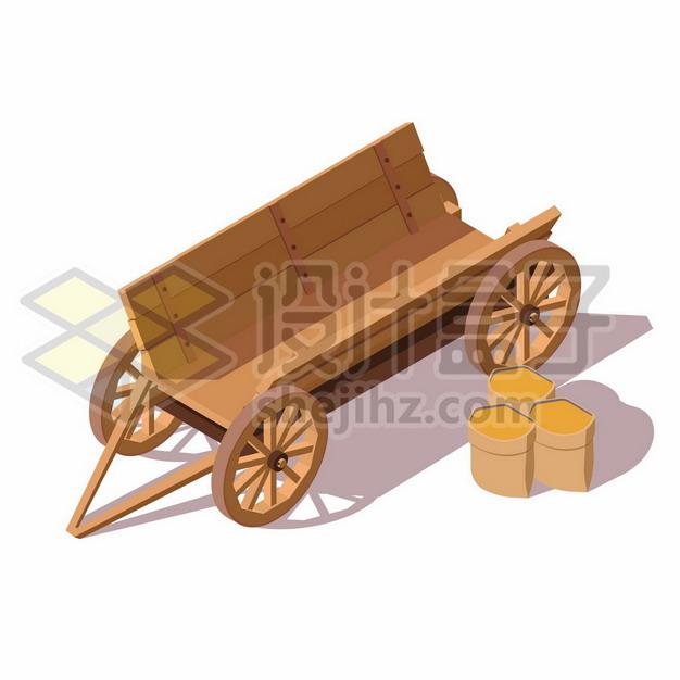 农村木制推车马车272062背景图片素材 交通运输-第1张