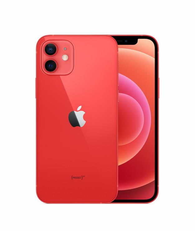正面背面展示的红色苹果iPhone 12 Pro手机png免抠图片素材103256 IT科技-第1张
