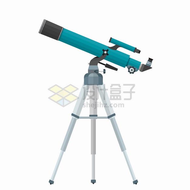 蓝色的折射天文望远镜4929847png图片素材 科学地理-第1张