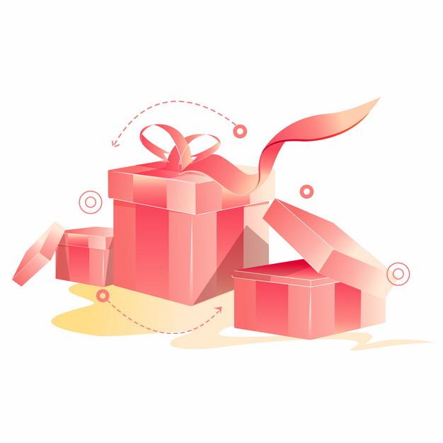 打开的红色礼品盒礼物盒404763AI矢量图片免抠素材 电商元素-第1张