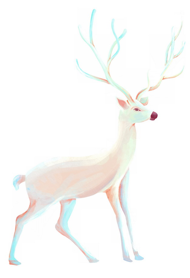 一只美丽的白鹿688708png图片素材 生物自然-第1张