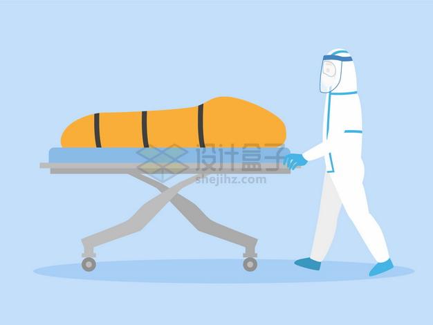 新型冠状病毒肺炎死者尸体装入裹尸袋中png图片素材 健康医疗-第1张