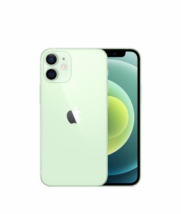 正面背面展示的绿色苹果iPhone 12 Pro手机png免抠图片素材744745 IT科技-第1张