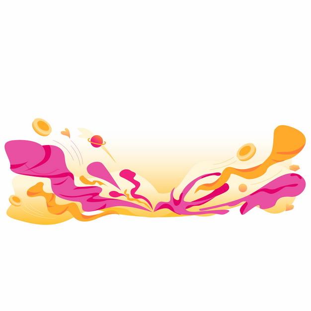 彩色云朵彩带电商促销装饰295111AI矢量图片免抠素材 装饰素材-第1张