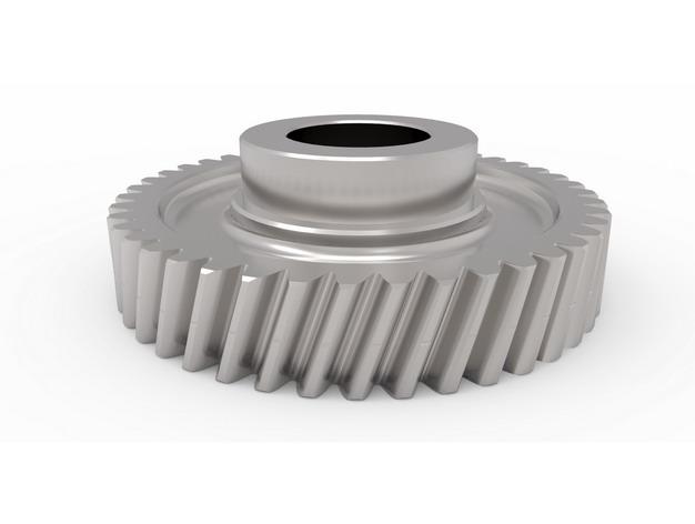 一款金属银灰色的齿轮装置129181png图片免抠素材 工业农业-第1张