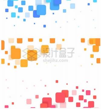 蓝色黄色红色方块装饰303803png图片素材