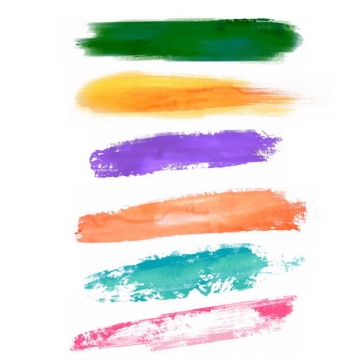 彩色涂鸦油墨水彩色块292432png图片免抠素材