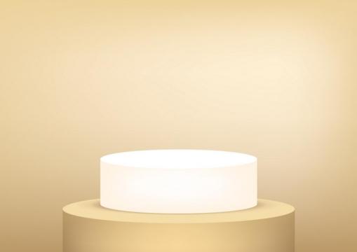 白色发光的产品展台展架图片免抠素材