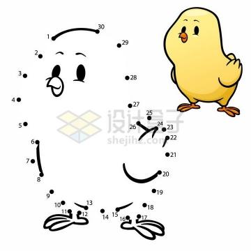 儿童绘画游戏画一只小黄鸡png图片免抠素材
