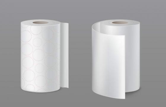 两卷卫生卷纸图片免抠素材
