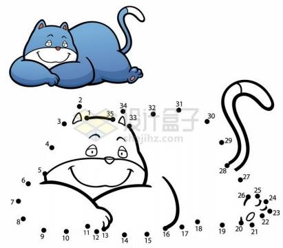 儿童绘画游戏画一只小猫png图片免抠素材