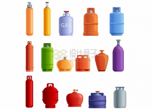 15款氧气瓶煤气罐等气体罐子566439png图片素材