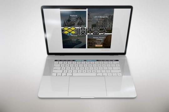 苹果MacBook Pro笔记本电脑模型屏幕显示内容样机图片设计素材