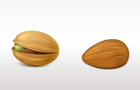 两颗开心果坚果图片免抠素材