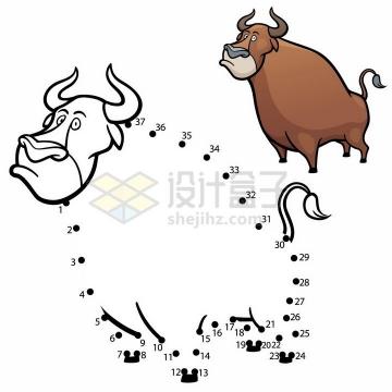 儿童绘画游戏画一只公牛png图片免抠素材