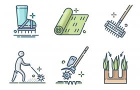 6款mbe风格农业图标图片免抠素材