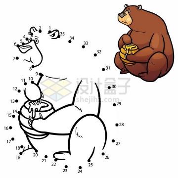 儿童绘画游戏画一只熊png图片免抠素材