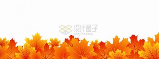 金秋时节秋天火红色的枫叶装饰png图片素材