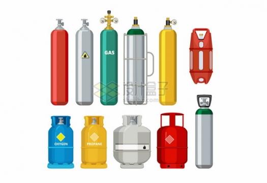 各种氧气瓶煤气罐等工业气体罐子141022png图片素材