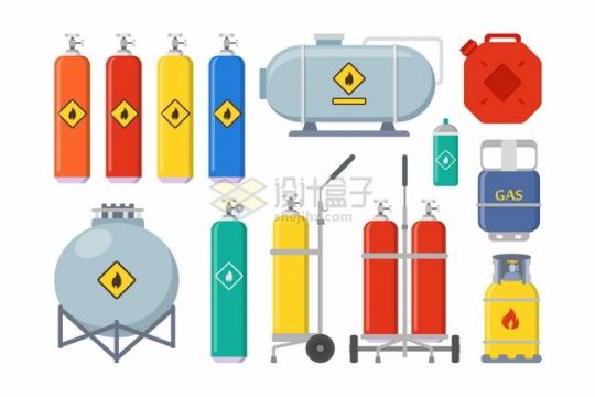 氧气瓶煤气罐液化天然气罐等工业气体罐子891674png图片素材