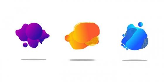 三款不规则形状标题背景框图片免抠素材