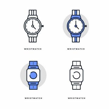 4款MBE风格的智能手表和机械手表图标png图片免抠矢量素材