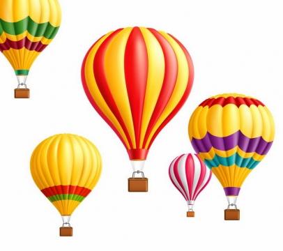 各种飘在半空中的彩色热气球图片png免抠素材