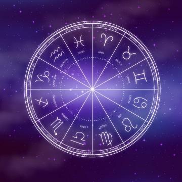 紫色十二星座星盘图片免抠素材