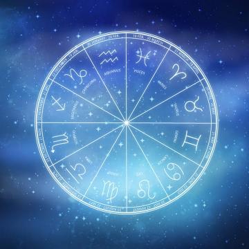 蓝色十二星座星盘图片免抠素材