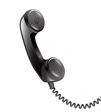 一个黑色的电话图片png免抠素材