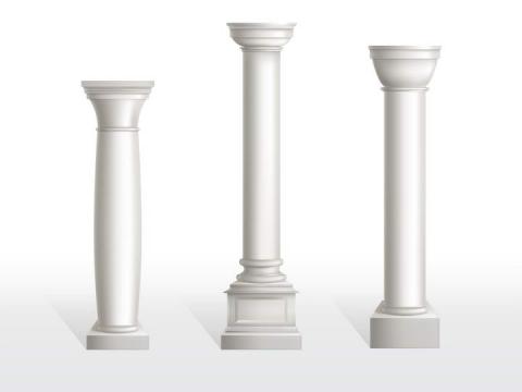 白色大理石柱子图片免抠素材