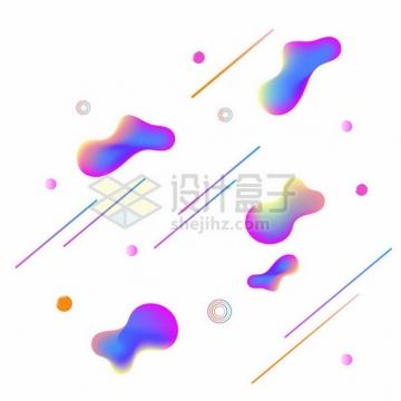 紫红色渐变色不规则形状电商装饰749579png图片素材