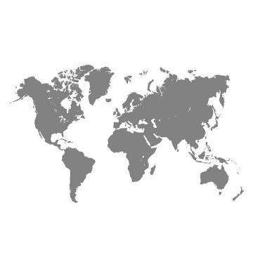 灰色纯色的世界地图图案图片免抠矢量素材