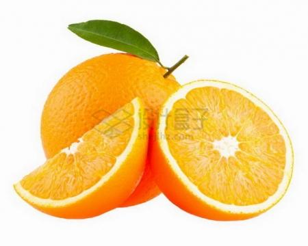 切开的橙子美国新奇士橙png图片素材