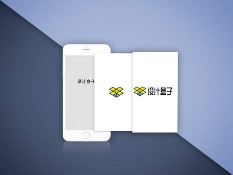 分层白色iphone手机屏幕内容模拟显示样机设计素材