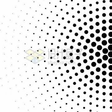 同心圆黑色圆点逐渐变小装饰图案410096png图片素材