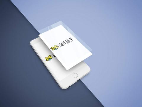 半透明风格分层白色iphone手机屏幕内容展示样机设计素材