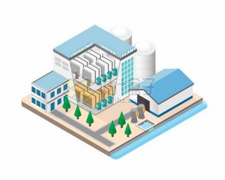 2.5D工厂厂房结构516463png图片素材