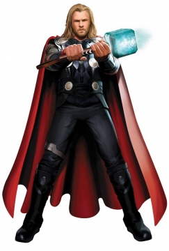双手拿着雷神之锤的雷神托尔png免抠图片素材
