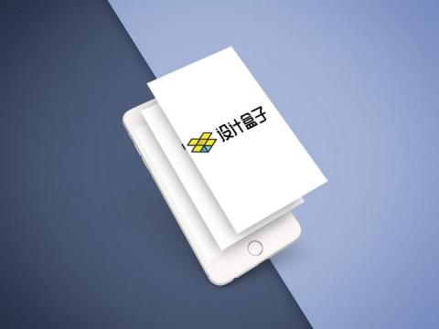 分层白色iphone苹果手机屏幕内容分层显示样机图片