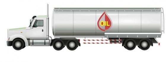 银白色槽罐车油罐车危险品运输卡车特种运输车侧视图784606png图片素材