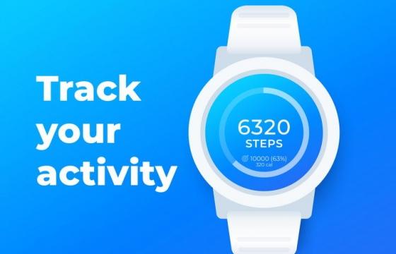 简约风格白色智能手表图片免抠矢量图素材