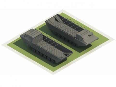 3D立体水陆两栖装甲运兵车574954png图片素材