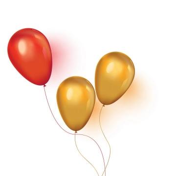 红色和橙色的气球图片免抠矢量素材