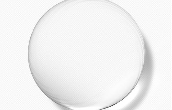 半透明的圆形水珠水滴玻璃球效果图片免抠素材