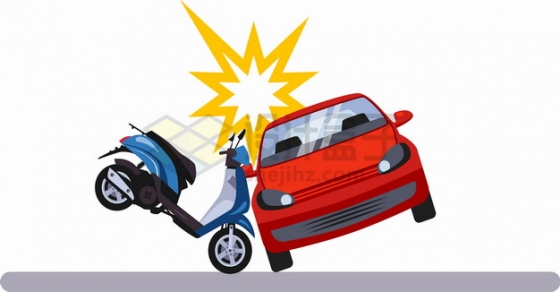 车祸现场电动车摩托车撞汽车574821png图片素材
